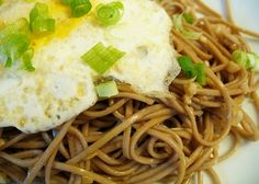 Dinner for One: Sesame-Garlic Soba Noodles with Fried Egg