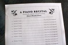 piano concert program template