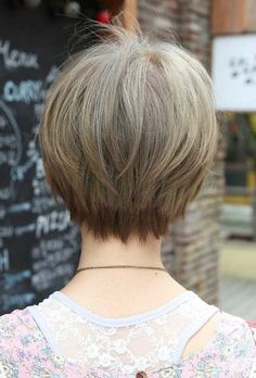 Back of Fine Straight Short Haircuts