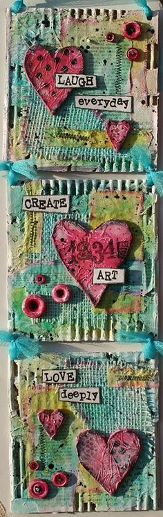 Paperlicious Designs: Mixed Media Cardboard Art Tutorial {{kp--corrugated background}}