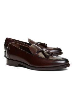 Harrys of London Satin Calfskin Shelly Tassel Loafers - Brooks Brothers