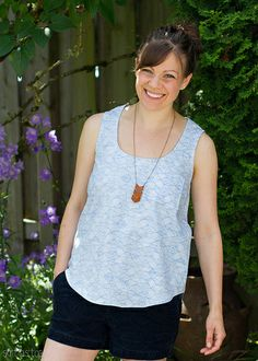 wiksten tank in leah duncan's valley of azure :: skirt as top