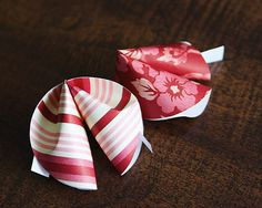 Instructions for paper fortune cookies