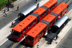Curitiba's pioneering BRT system.