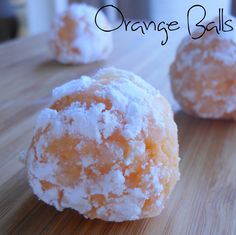 Orange Balls- tasty little no-bake balls with coconut, powdered sugar, crushed vanilla wafers, and orange juice. @Allrecipes #cookies