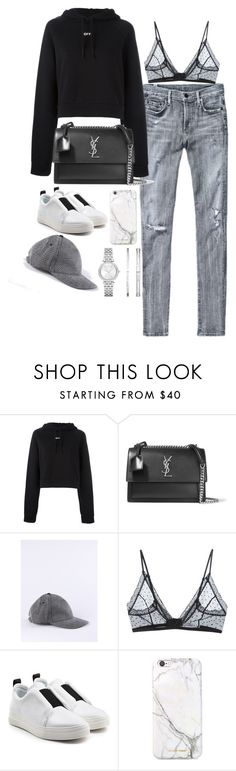 """""""Untitled #2115"""" by sarah-ihab ❤ liked on Polyvore featuring Citizens of Humanity, Off-White, Yves Saint Laurent, Diesel, Anine Bing, Pierre Hardy, russell+hazel and Michael Kors"""