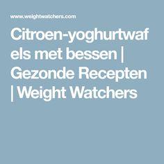 Citroen-yoghurtwafels met bessen | Gezonde Recepten | Weight Watchers