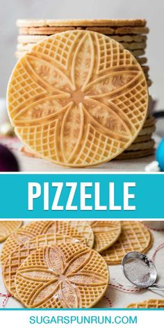 Easy Cookie Recipes, Easy Desserts, Baking Recipes, Dessert Recipes, Baking Ideas, Pizzelle Cookies, Pizzelle Recipe, Christmas Goodies, Christmas Baking