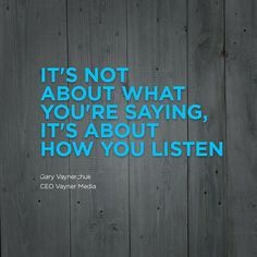 """""""It's not about what you're saying, it's about how you listen. - Gary Vaynerchuk  #motivation #quotes #development #web #ecommerce #software #application #outsourcing #business #startups  Are you looking for web, ecommerce, or application development solutions? BuildaTeam.io is here to cater to your needs. Our team of expert developers has undergone a rigorous screening process to ensure provision of top-notch services. All is managed from the US. Simply contact us athello@buildateam.ioOR…"""