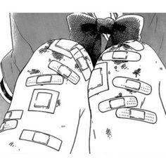 #manga #gore #guro #bandaids #bandage #cut #scrape