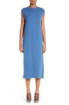ADAM LIPPES Pleated Back Merino & Chiffon Dress. #adamlippes #cloth #