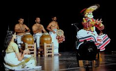 """KOODIYAATTAM   Recognised by UNESCO as one among the """"Masterpieces of the Oral and Intangible Heritage of Humanity"""", it is the only surviving Sanskrit theatre in the world. Extant over 2000 years, it is arguably the oldest existing classical theatre form in the entire world.  @ Indian counsilate auditorium, Dubai."""