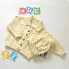 Toddlers Soft cream Jacket & hat set  by by ACrookedSixpence, £30.00
