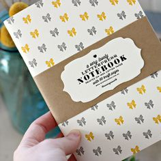 Letterpress Notebooks | Letterpress Note Book | Kraft Notebook