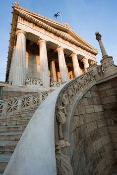 National Library on Panepistimiou St., Athens, Greece