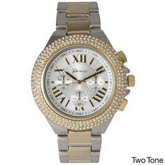 Olivia Pratt Rhinestone Roman Numeral Boyfriend Watch