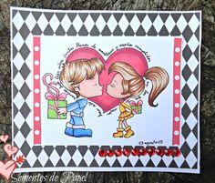 Sementes de papel: I love you card, with an Alicia Bel digi