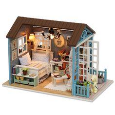 $32.22 - Nice Handmade Doll House Furniture Miniatura Diy Doll Houses Miniature Dollhouse Wooden Toys For Children Grownups Birthday Gift Z07 - Buy it Now!