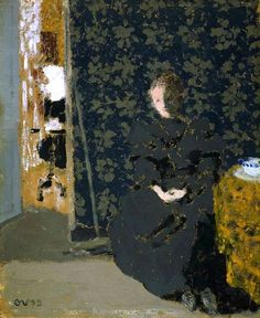 'Seated Woman, Cup of Coffee' (1893) by Jean-Édouard Vuillard (1868-1940). via It's About Time