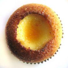 Cupcake de creme bruleé
