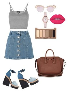 """""""Untitled #15"""" by udggv24 on Polyvore featuring Miss Selfridge, Pierre Hardy, Topshop, Givenchy, Le Specs, Emporio Armani, Lime Crime and Urban Decay"""