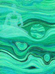 Chakra Art - Malachite Heart  Chakra  by Jennifer Baird
