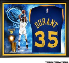 0250246c2 Kevin Durant Golden State Warriors Framed Autographed Blue Nike Swingman  Jersey 2018 NBA Finals Champions Collage - Panini Authentic - Authentic  Signed