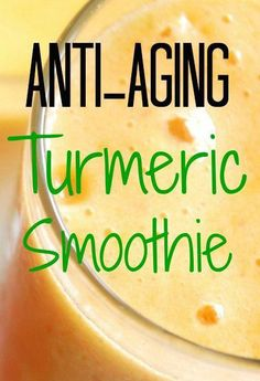 5 Tips to Anti Aging Naturally Anti-Aging Turmeric Smoothie Recipe 1 cup coconut milk cup frozen pineapple or mango chunks 1 fresh banana 1 tablespoon coconut oil 1 te. Healthy Juices, Healthy Smoothies, Healthy Drinks, Healthy Snacks, Healthy Eating, Healthy Recipes, Drink Recipes, Healthy Detox, Nutrition Drinks