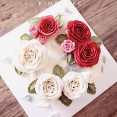 KIM&CAKE signature rose and David Austin rose…
