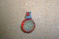 Glass borosilicate implosion lampwork pendant (Boro #10)