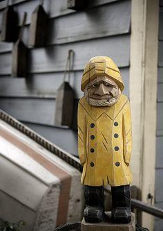 Wood Carved Fisherman