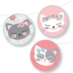 Kitty Party, Kid Cupcakes, Birthday Cupcakes, Back To School Crafts, Kitty Games, Birthday Invitations Kids, Cat Birthday, Cupcake Toppers, Cupcake Cakes