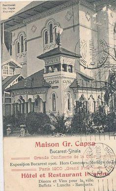 Bucuresti - Expozitie 1906 - Maison GR. CAPSA Old Pictures, Old Photos, Restaurant Diner, Paris 1900, Romanian Girls, Places Worth Visiting, Little Paris, Bucharest Romania, The Beautiful Country