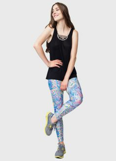 An acid bright marbled print is perfect for those of you with a little 60s nostalgia still in you; it might not be Woodstock, but if you're hitting the festivals this summer make sure you've packed a pair of these leggings! - See more at: http://www.frontrowsociety.com/