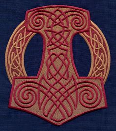 Nordic Majesty Thor's Hammer | Urban Threads: Unique and Awesome Embroidery Designs