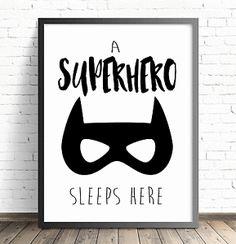 A4 Nursery Bedroom Decor Wall ART Print Baby Children Batman Superhero | eBay