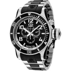 Invicta Men's 6631 Russian Diver Collection Chronograph Stainless Steel Black Rubber Watch Invicta. $225.00. Chronograph functions with 60 second, 30 minute and 1/10th of a second sub-dials; date function. Precise Swiss-quartz movement. Durable mineral crystal; brushed and polished stainless steel and black rubber case and bracelet. Water-resistant to 984 feet (300 M). Black dial with silver-tone hands, hour markers and arabic numerals; luminous; stop watch func...