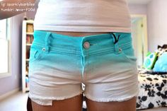 Ombré shorts ♡ I actually have a pair in light ombre purple