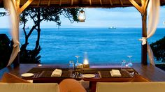 A meal with a view.