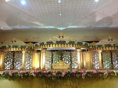 Wedding Stage Decorations, Flower Decorations, Wedding Mandap, Wedding Venues, Function Hall, Wedding Plates, Indian Weddings, Garlands, Hair Jewelry