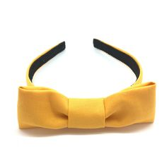 Spicy Mustard Yellow Bow Headband -  Preppy Blair Waldorf Bow Headband in Mustard Yellow - Headband with Centered Bow Gossip Girl by BellaHeadbands on Etsy https://www.etsy.com/listing/473109533/spicy-mustard-yellow-bow-headband-preppy