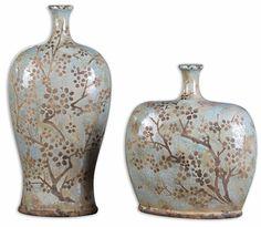 Uttermost Citrita Decorative Ceramic Vases Set/2 19658