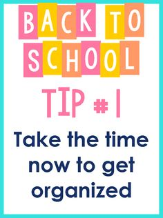 Ideas for starting the school year smoothly
