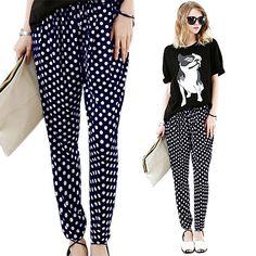 Chic mujer corea BAGGY elástico ocasionales flojos pantalones harén pantalones en Pantalones y Capris de Moda y Complementos Mujer en AliExpress.com | Alibaba Group