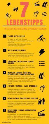 Diese Infografik zeigt dir 7 Tipps für ein leichteres und besseres Leben. Unter anderem warum du mit Radfahren anfangen solltest.