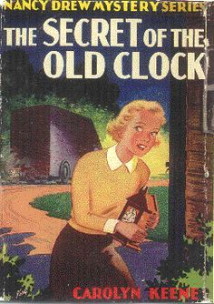 Nancy Drew: The Secret of the Old Clock, cover by Harold Hill. Mystery Series, Mystery Books, Books To Read, My Books, Nancy Drew Books, Nancy Drew Mysteries, Book Cover Art, Book Covers, Best Mysteries
