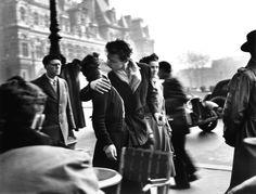 Le Baiser de l'Hotel De Ville, 1950, by Robert Doisneau. | 6 Vintage Photos That Prove Paris In The Springtime Is Magical