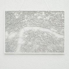 Westpaket 3D-Karte von berühmten Städten London | design3000.de