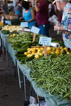 Grab some delicious produce at the Farmer's Market!