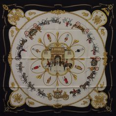 Authentic Vintage HERMES SCARF from 1994 The Royal Mews/Jean de Fougerolle #HERMS #Scarf